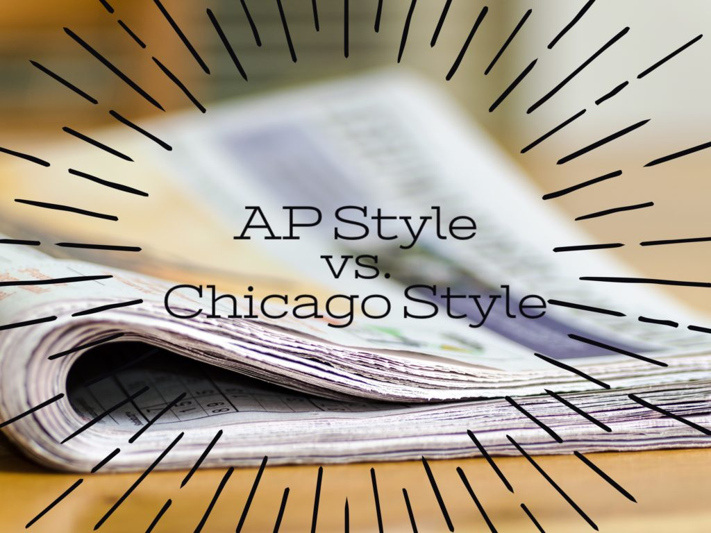 AP Style vs. Chicago Style