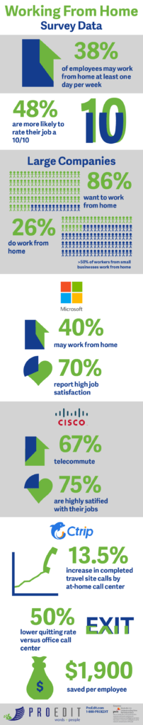 Work From Home Survey Data InfoGraphic | ProEdit